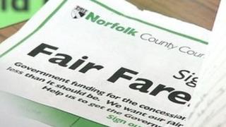 Fair fares campaign leaflet