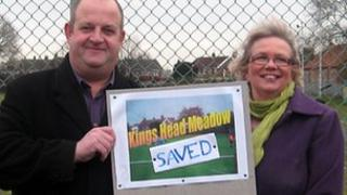 Andy Gardiner and Diane Fernee at King's Head Meadow
