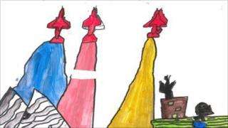 The winning design by Penny Vallier, 10, and George Cutler, nine, from Kinson Primary School
