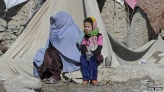 Internally displaced family in Kabul