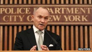 NYPD Police Commissioner Ray Kelly speaks at a press conference 3 February 2012