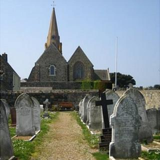 Vale Church and graveyard in Guernsey
