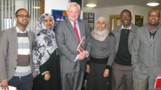 Stephen O'Brien and members of the Somali community in Bristol