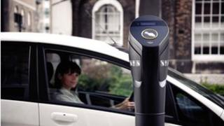 An electric car charger