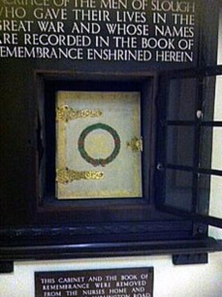 Slough's book of remembrance