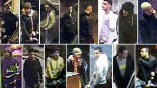 cctv pictures of men at petrol stations