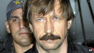 Viktor Bout in US custody after he was arrested in Bangkok, Thailand. Picture from US Drug Enforcement Agency 16 November 2010