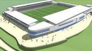 Artists' impression of Stadium for Cornwall