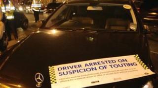 Unlicensed vehicles seized