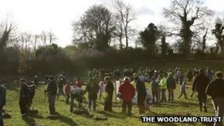 Community tree planting- photo courtesy of The Woodland Trust