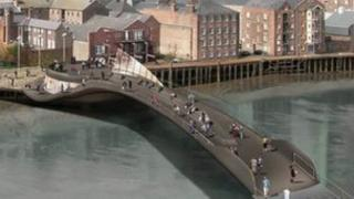 Artist impression of footbridge over the River Hull