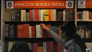A Penguin book stand in India