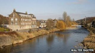 River Teviot in Hawick - Image by Walter Baxter