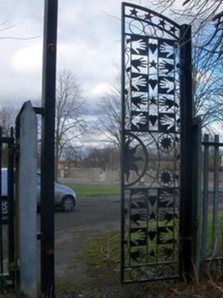 Gate stolen