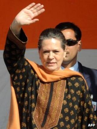Sonia Gandhi in January
