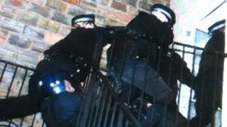 Kent Police break into a property to execute a search warrant