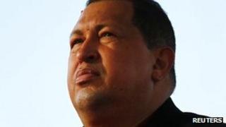 President Hugo Chavez seen before boarding a plane to Cuba on 24 February