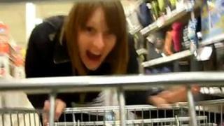 Miss Luke doing her shopping