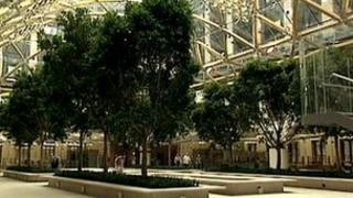 Fig trees in Portcullis House