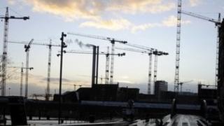 Construction cranes in Hamburg