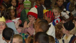 Children dressed as book characters