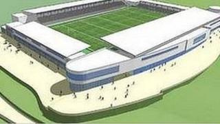 Artists' impression of Stadium for Cornwall