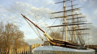 The restored Cutty Sark