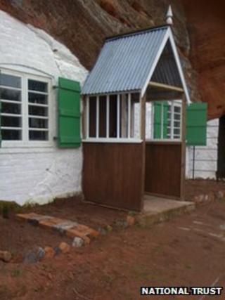 Restored porch - National Trust