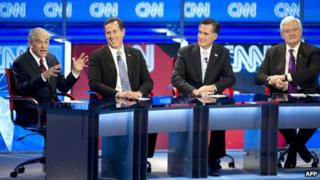 Republican presidential candidates take part in a televised TV debate