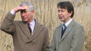 Prince Charles (left)