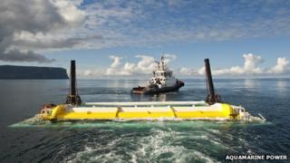 Aquamarine Power Oyster wave device. Pic: Aquamarine Power