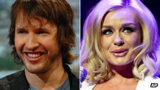 James Blunt and Katherine Jenkins