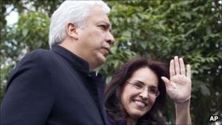 Colombia's Chief Prosecutor Viviane Morales with her husband, former congressman Carlos Alberto Lucio