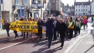 The demonstration in Kendal