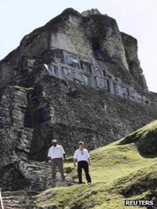 Prince Harry at Xunantunich