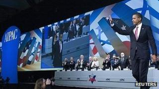 President Obama at Aipac conference. 4 March 2012