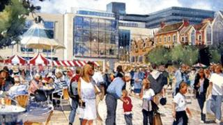 An artist's impression of the Grosvenor Shopping Centre