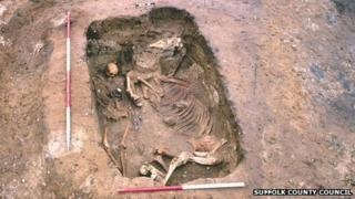 Anglo-Saxon warrior and horse, RAF Lakenheath