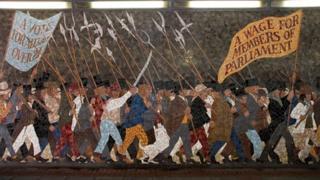 Scene from the mural