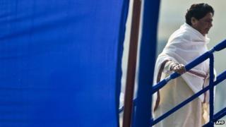Mayawati on 24 February 2012