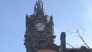 Balmoral Hotel clock Pic: Joanne MacAulay
