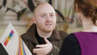 John O'Doherty from Rainbow Project in Derry, which was awarded £155,737