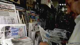 News stand in Tripoli