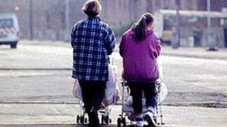 Women with strollers (generic)