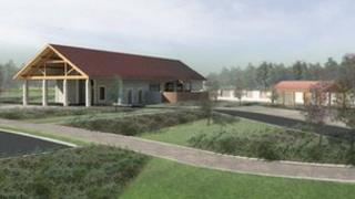 Artist impression of new crematorium being proposed for Leicestershire