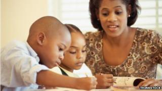 Black children home schooling