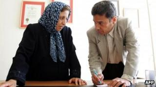 Abdolfattah Soltani talks to leading Iranian human rights lawyer Shirin Ebadi