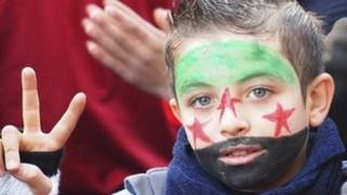 Young Syrian protestor
