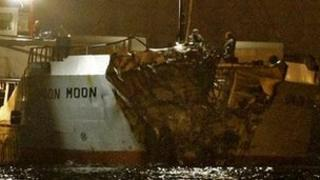 damage to bow of union moon