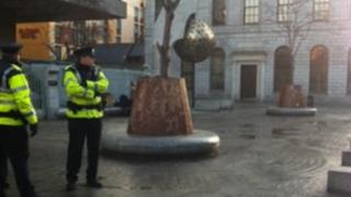 Police move Occupy Dame Street protestors
